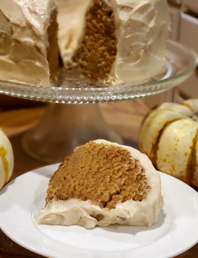 SPICED PUMPKIN BUNDT CAKE & BROWN BUTTER CREAM CHEESE FROSTING