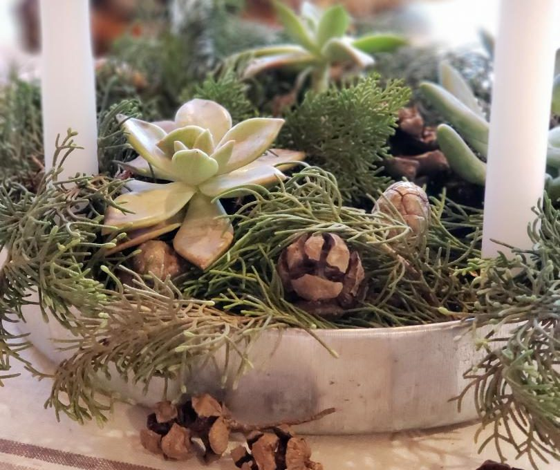 A FARMHOUSE ADVENT WREATH