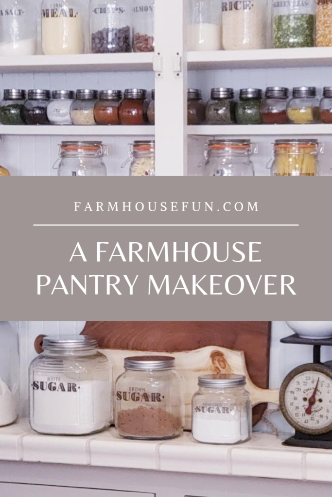Farmhouse Pantry Makeover with banner