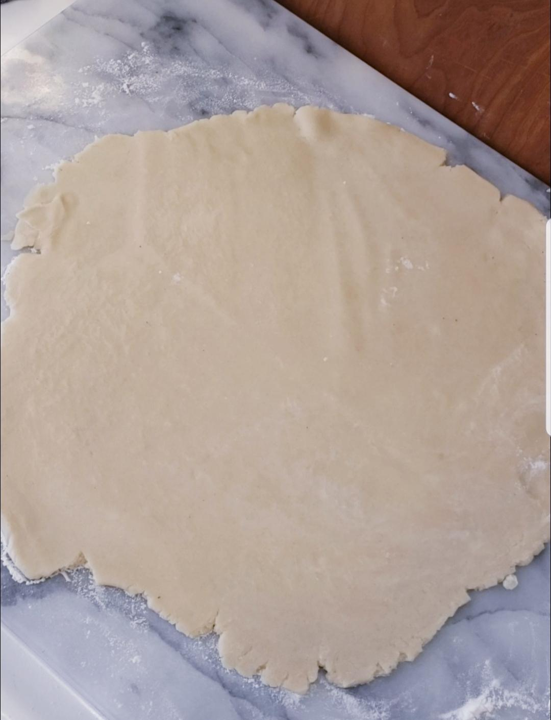 tart crust rolled out