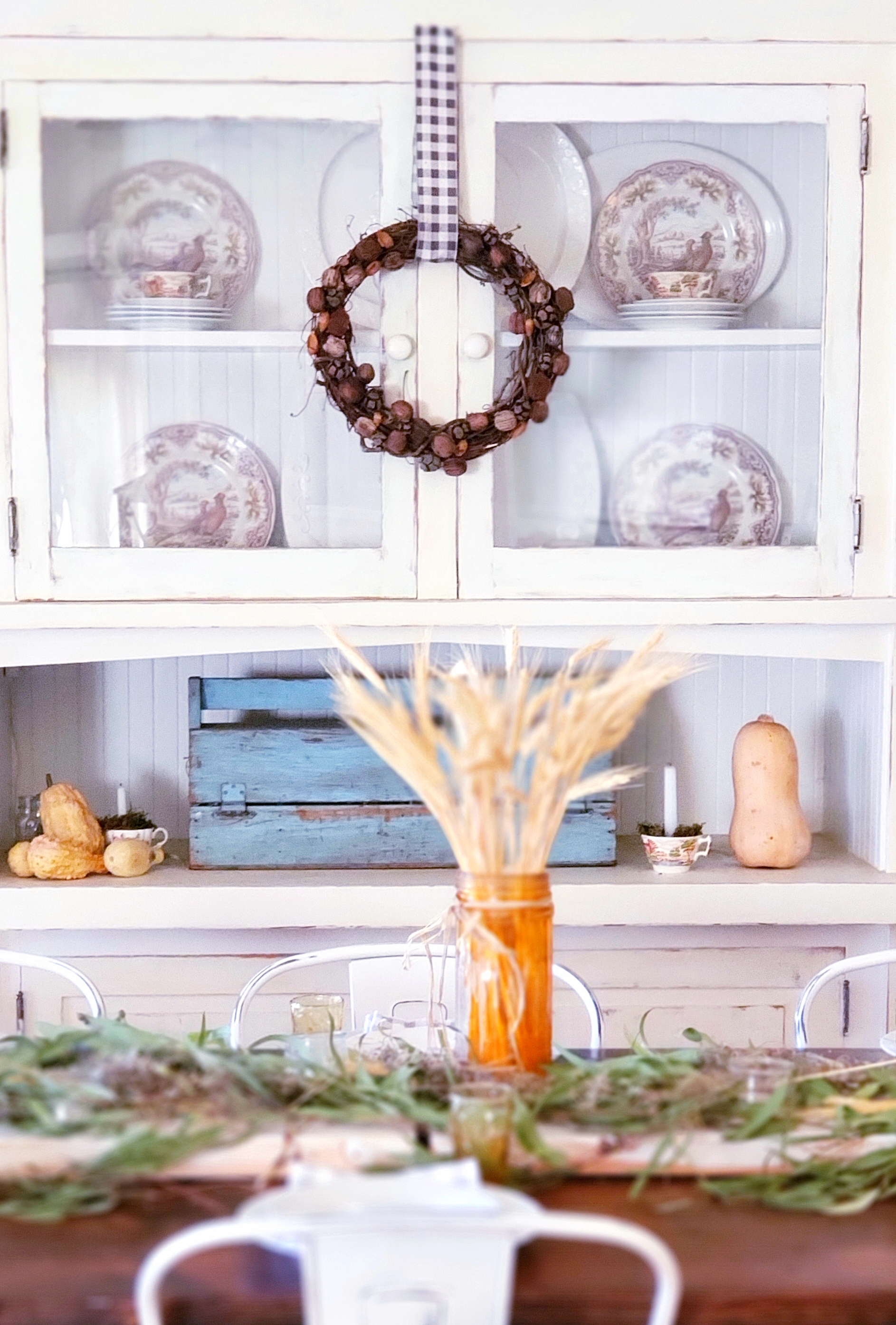 Fresh Fall Look with Nut Wreath
