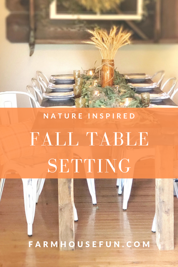 nature inspired table setting pinterest graphic