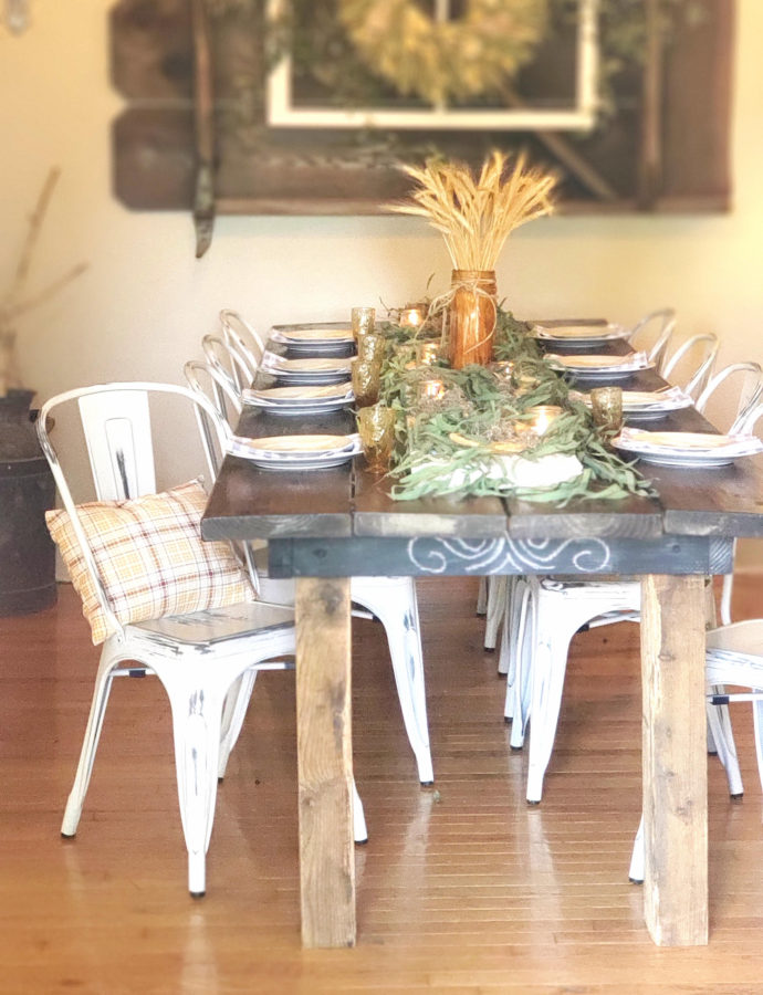 NATURE INSPIRED FALL TABLE SETTING
